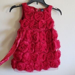 Baby Gap Red Rosette Dress